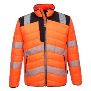 Portwest Hi-Vis Thermal Winter Baffle Jacket PW371